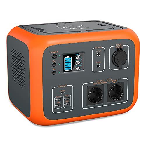 PowerOak AC50S PowerStation 500Wh Solargenerator Lithium Mobiler Stromspeicher mit 230V Steckdose/USB-C/Kabelloses Laden Notstromaggregat für Reise Camping Emergency Garten Heimwerken(BLUETTI AC50S) …