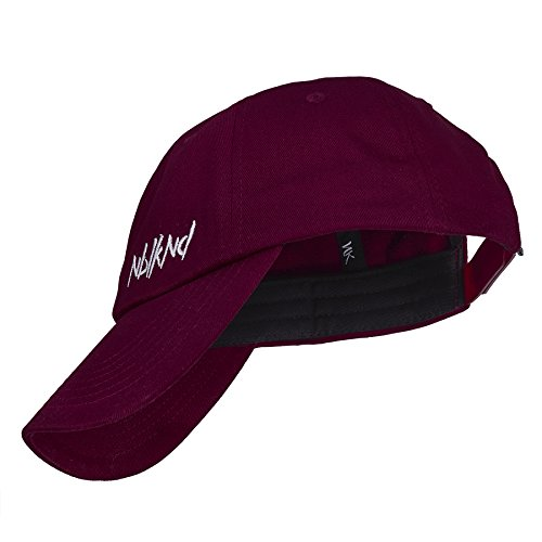 Nebelkind Baseball Cap Dunkelrot Dad Cap Low Kappe 6-Panel One Size