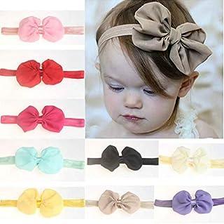Diadema impresa para la madre y el beb/é headband el/ástica con orejas de conejo Hemuu 2 Sets Diademas Madre-Ni/ño Bowknot Hairband
