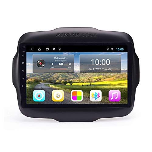 Autoradio Navigatore Satellitare FM AM Touch Screen Navigatore GPS Supporto Controllo Volante Bluetooth WiFi Player Supporto GPS USB SD Adatto per Jeep Renegade 2016-2018(Color:1G+16G)