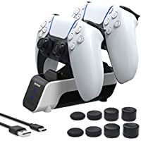 NexiGo PS5 Controller Fast Dual Charging Station (White)