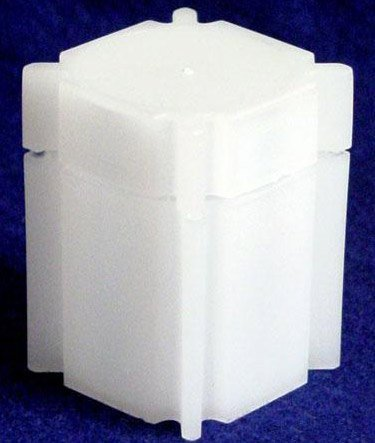 100 Coin Safe Square Coin Tubes for 20 HALF DOLLARS