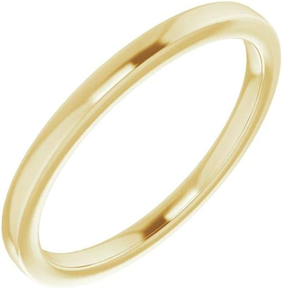 Solid 14K Yellow Gold Curved Notched Popular Free Shipping Cheap Bargain Gift Wedding Band for 5.2mm Roun