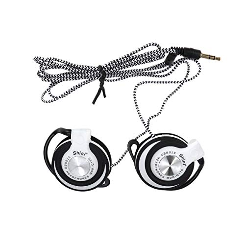 SUPVOX Wired Headset Clip on EarHook Earphone Stereo PC Headphones for Mp3 Player, Computer
