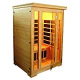 Sauna a infrarossi due posti cm 124x116 5 irradiatori radio porta usb cromoterapia