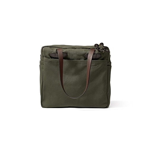 Filson Rugged Twill Tote Bag with Zipper (Otter Green)