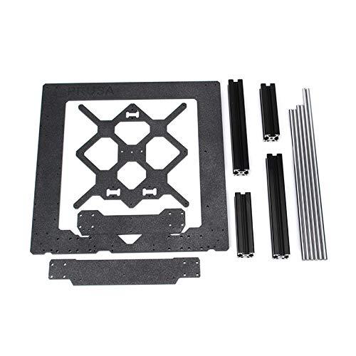 Le profil en aluminium de noir de cadre en aluminium de pièces en aluminium de cadre de pièces de rechange de l'imprimante originale Prusa i3 MK3 3D et le kit de tiges lisses