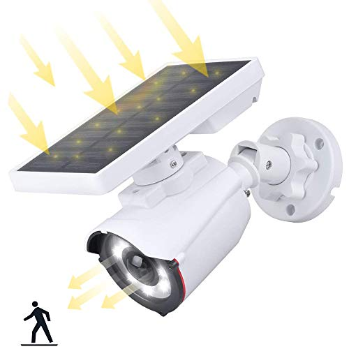 Falsa Cámara de Vigilancia WiFi Exterior con Luces Solares IR Led con Détection de Mouvement, Aottom IP Cámaras Simulada con...