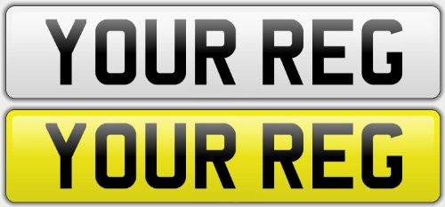 Pair Standard Number Plates 100% MOT Compliant - Car / Van