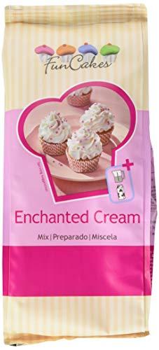 FunCakes Mix für Enchanted Cream®: Einfach zu verwendende, sehr leichte und flauschige Schneewittchencreme, perfekt zum Füllen und Abdecken von Kuchen oder als Belag für Cupcakes. 450 g.