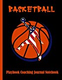 Basketball Playbook Coaching Journal Notebook: 100 Full Page Basketball Court Diagrams for Drawing Up Plays, Drills, and Scouting