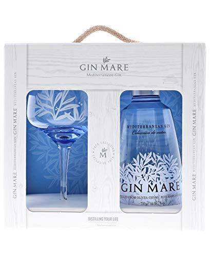Gin Mare Mediterranean Gin 42,7% - 700 ml in Giftbox with glass