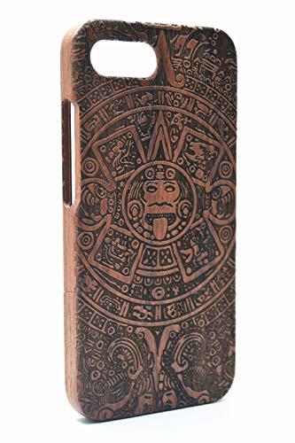 RoseFlower® Custodia in Legno per Huawei Honor 10 Cover Rigida - Maya di Palissandro - qualit à Premium Cover in Vero Legno Naturale