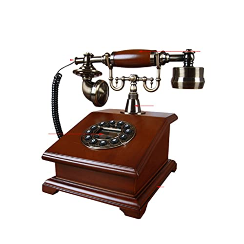 YUTRD Telephone-Madera Antigua Sala De Estudio De Línea Fija De Estar Decoración Decoración del Teléfono De La Oficina En Casa Retro Vendimia