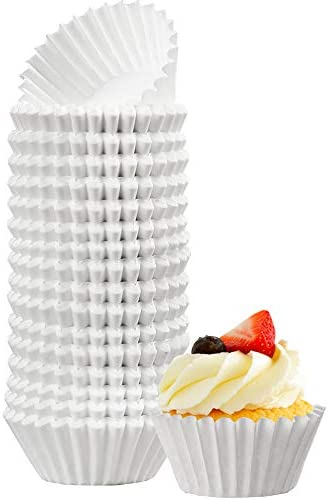 LotFancy 500pc White Cupcake Liners Mini Muffin Liners Small Cupcake Wrappers Greaseproof Cupcake product image