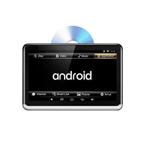 wansosuper 10,1 Pulgadasreproductor De DVD para El Coche, DVD De Coche Móvil De Alta Definición, Versión Mejorada De La Batería Incorporada Recargable De 4500 Mah, Soporte USB Bluetooth,Black