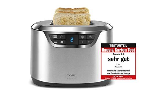 Caso 2776 T2 Design Toaster aus der Novea-Serie, Toastautomatik mit Motorlift, 1000 W, silber