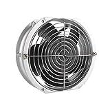 HG Power - Extractor de aire de ventilación, ventilador de tubo de escape de acero inoxidable para oficina, cuarto de baño, halle (100 mm de diámetro)