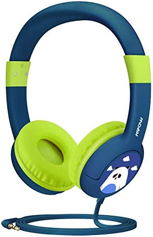 Mpow Kids Headphones, CH1 Wired Headphones Children On Ear, Friendly Safe Food Grade Material Durable, 85 dB Volume Limited Hearing Protection, Music Share Function for Children Toddler Baby (2 Packs)