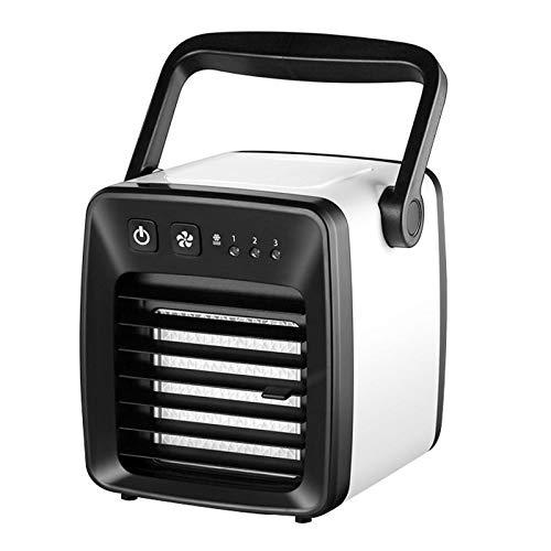 Sunsunshh Mini Ventilatore USB di Ricarica Aria Condizionata Ventilatore Dormitorio for Studenti (Color : Black)