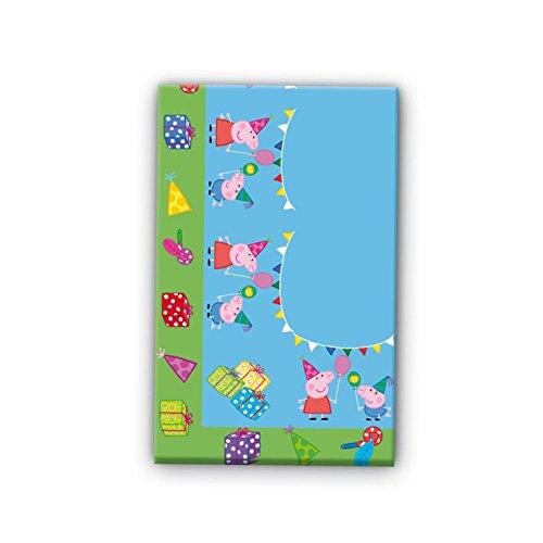 0539, Peppa pig plastic tafelkleed voor feesten en verjaardagen, afmetingen 120x180cms