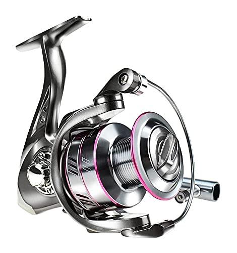 LQJin 2020 Nuevo Carrete de la Pesca 1000-7000 MAX Drag 12kg Carrete de Pesca 5.2: 1 Metal de Alta Velocidad Carrete de Giro del Carrete del Carrete de Agua Salada (Color : 2000 Series)