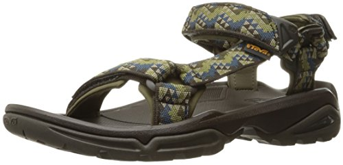 Teva Terra Fi 4 M's, Zapatillas de Senderismo para Hombre, Verde (Palopo Olive), 49.5 EU