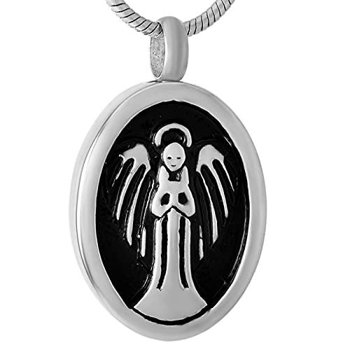 NIUBKLAS You're My Angel - Collar con colgante de acero inoxidable para mujer