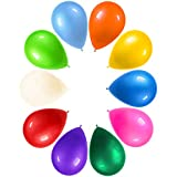 LYESHY 100 Pack Party Balloons 12 inch and 14 Pack HAPPY♥BIRTHDAY Banners Thickened Colourful Rainbow Balloon for Birthday Decorations Party Supplies