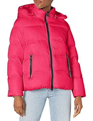 Armani Exchange Down Long Sleeve Classic fit Winter Jacket Alternative Coat, Record, S para Mujer