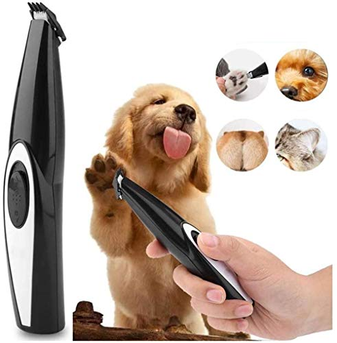 AMYD A001 Dog Cat Foot Mini Hair Trimmer USB Recargable Pet Grooming Tool Trimmer Electric Hair Trimmer Shaving Trimming Machine Máquina de Corte de Pelo de bajo Ruido Recargable Grooming Hair