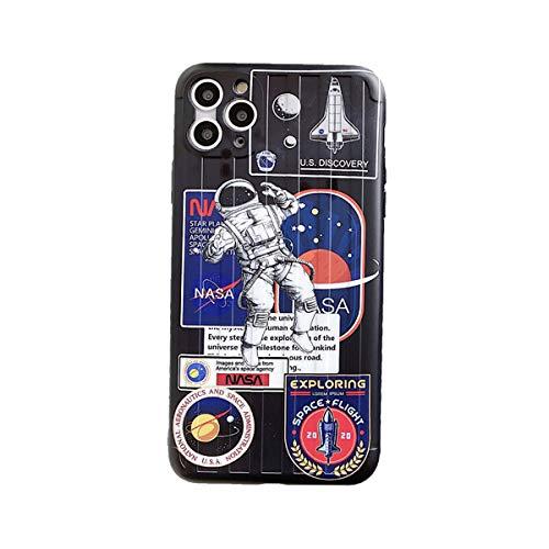 2-Pack Case iPhone 11 Soft TPU Heló La NASA Caso De iPhone 11 Pro MAX Resistente del Rasguño No Slip-Protección Gota para iPhone 11/11 Pro