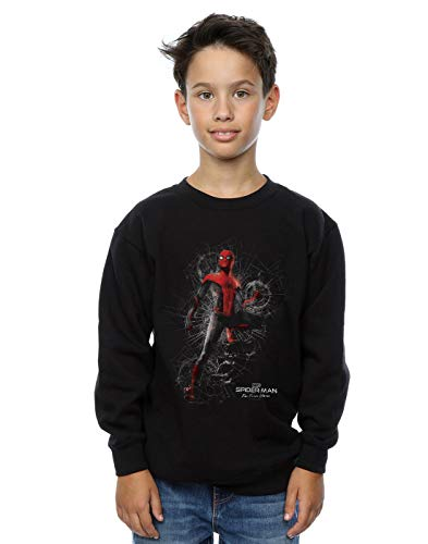Marvel Jungen Spider-Man Far from Home Upgraded Suit Sweatshirt Schwarz 12-13 Years