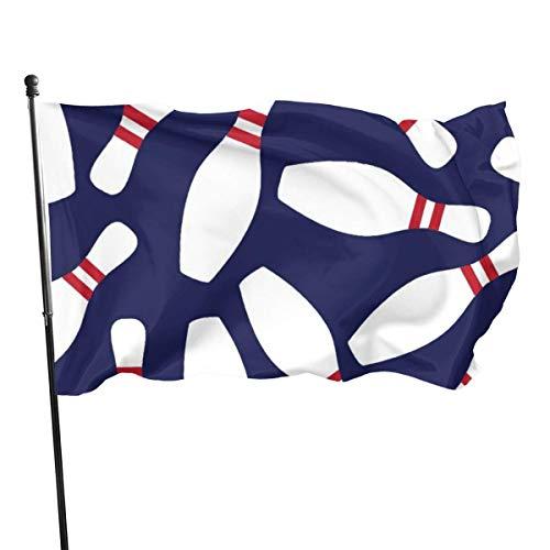 LZHANDA Garten Flaggen Flagge Fahne, Weather Resistant Bowling Garden Flag, Game Flag - 3 X 5 Ft