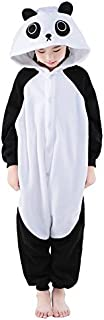 Unisex Children Cute Panda Pyjamas Halloween Costume (8-Height 51-54