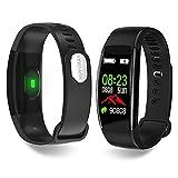 HUYVMAY Reloj de seguimiento de actividad física, IP68 resistente al agua para mujeres hombres niños, pulsera de fitness con monitor de frecuencia cardíaca podómetro seguimiento de sueño