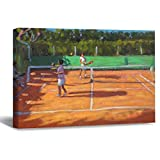 Tennis Practise Cap D'Adge France Canvas Picture Painting Artwork Wall Art Poto Framed Canvas Prints for Bedroom Living Room Home Decoration, Ready to Hanging 8'x12'