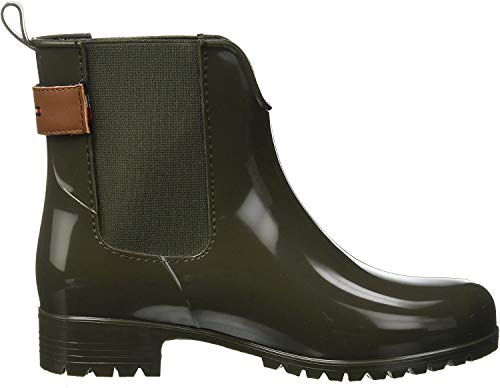 Tommy Hilfiger Damen Corporate Belt RAIN Boot Gummistiefel, Grün (Military 302), 39 EU