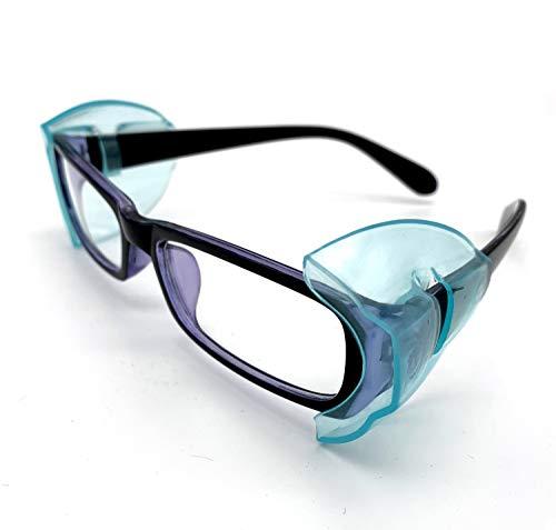 VIEEL 【4 個入り】花粉症めがね L・M・Sサイズ 防塵 花粉対策 メタルフレーム保護メガネ用サイドシールド