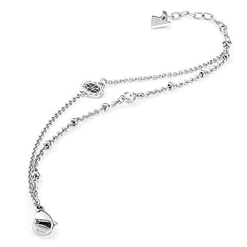 Armband Erraten Miniatur UBB79032-S rhodiniert Edelstahl Doppelkette Kristalle Swarovski