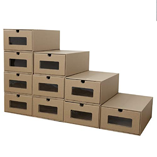 PetHot - Cajas de Almacenamiento para Zapatos de cartón Plegables, apilables, 10 Unidades