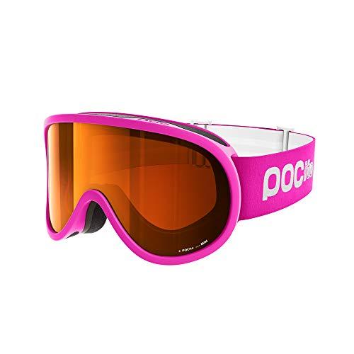 POC Pocito Retina, Maschera da Sci Alpino Unisex-Bambini, Rosa (Fluorescent Pink), Taglia Unica