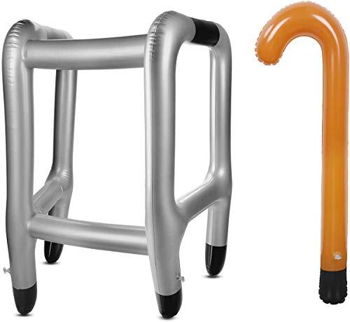 ALWWL Marco Inflable y bastón, Andador Broma Hinchable, para Adultos/niños cumpleaños Fiesta Divertido Regalo Fiesta de jubilación Decoraciones Accesorio