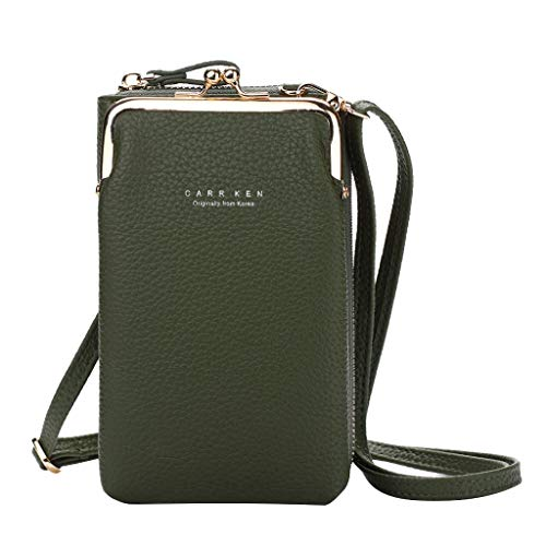 Women Crossbody Phone Bag Long Style Large Capacity Multifunctional Cellphone Crossbody Purse Wallet Lightweight Leather Cross Body Cell Phone Bag