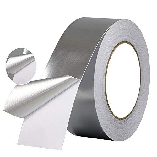 Selbstklebend Klebeband Aluminiumband Hitzebeständig Hitzeschutzband, Wasserdicht Alu-Klebeband Aluminium Klebeband Aluminiumklebebänder Aluband zum Abdichten oder Dämmen 30 mm * 30 m (1Rolle,Silber)