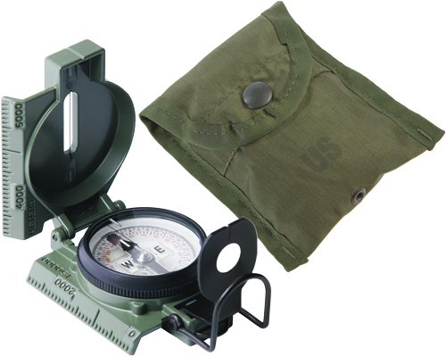 Olive Drab Cammenga Genuine Military Lensatic Phosphorescent Compass Model 27