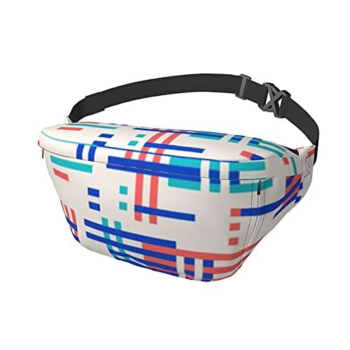 Sport Brusttasche Messenger Bag Bauchtasche Albers Bauhaus Große Kapazität Reißverschluss Verstellbarer Schultergurt für Outdoor-Aktivitäten