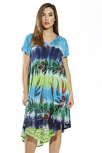 Riviera Sun Dress Dresses for Women - Blue - 1X Plus