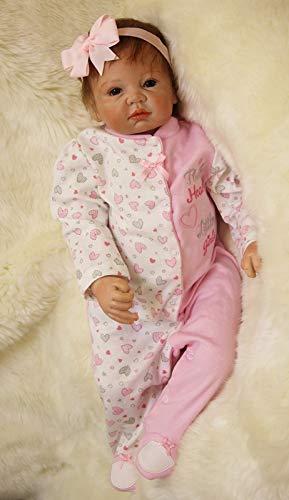 Scnbom 22pulgadas 55cm Bebes Reborn niñas Silicona muñecas Reales Recien Nacidos Toddler niño Realista Baby Dolls Girls Originales Ojos Abiertos Verdadero
