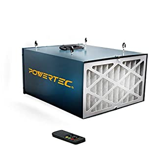 POWERTEC AF4000 Remote Controlled 3-Speed Air Filtration System (300/350/400 CFM) (B00NET7156) | Amazon price tracker / tracking, Amazon price history charts, Amazon price watches, Amazon price drop alerts